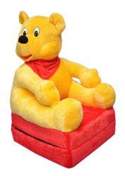 Smyk figurás,kihajtható plüss fotel Mackó
