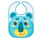 Canpol babies műanyag zsebes előke-tépőzáras-kék