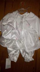 Lány 4 részes keresztelő ruha