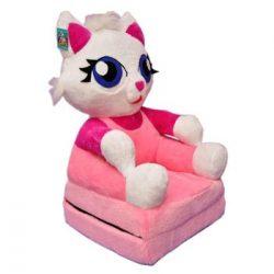 Smyk figurás,kihajtható plüss fotel Pink Cica