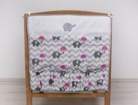 Esernyős Elefánt rózsaszín  zsebes tároló