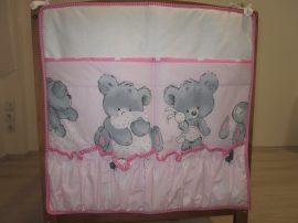Fredi -Teddy rózsaszín -Lili zsebes tároló