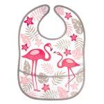 Canpol babies műanyag zsebes előke-tépőzáras-JUNGLE  rózsaszín