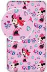 90x200 cm es pamut gumis lepedő Disney Minnie
