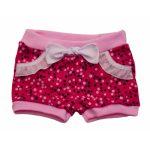 Mintás rövid nadrág pink pöttyös